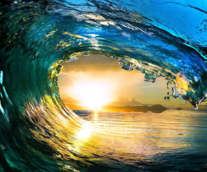 heart, surfing, and ocean image