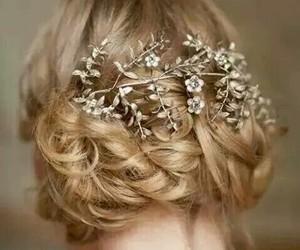 hair, bride, and wedding image