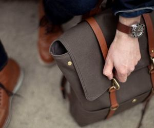 style, bag, and men image