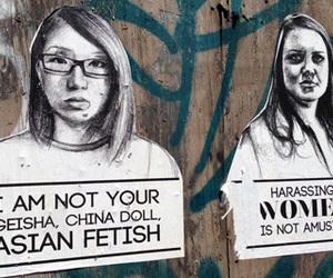 feminism, graffiti, and harassment image