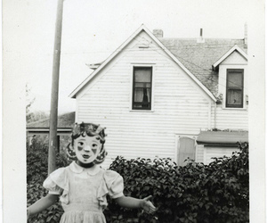 child, girl with mask, and enfant image