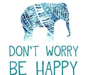 elephant, happy, and blue image