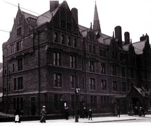 black and white, old, and building image