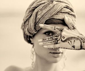 tattoo, henna, and woman image