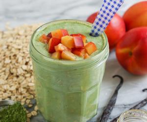 breakfast, Matcha, and oats image