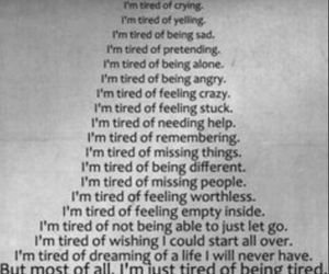 anger, tired, and tired of being tired image