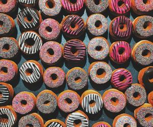 delicious, donut, and doughnut image