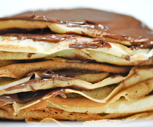 nutella, crepes, and food image