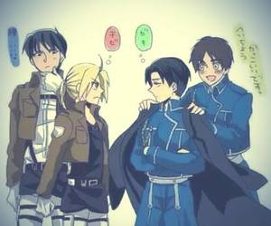 anime, fullmetal alchemist, and shingeki no kyojin image