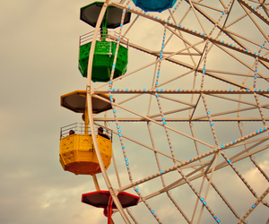 ferris wheel, photography, and vintage image