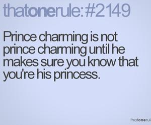 prince, princess, and quote image