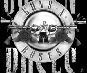 Guns N Roses, music, and black and white image