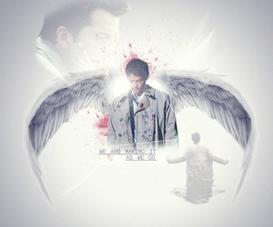 angel, castiel, and misha collins image