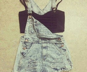 overalls, summer, and outfit image