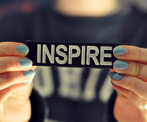 inspire, nails, and quote image