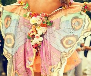 butterfly, hippie, and boho image