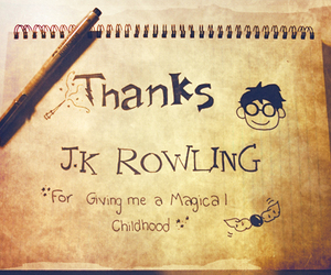 harry potter, jk rowling, and childhood image