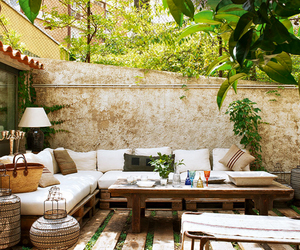 garden, house, and interior image