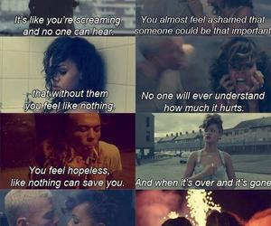 rihanna, we found love, and quote image