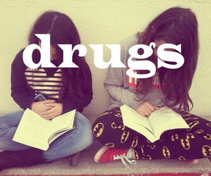 book, drugs, and reading image