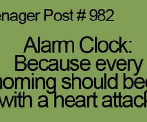 teenager post, alarm clock, and funny image