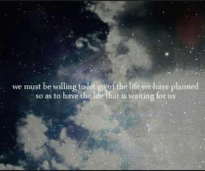 let go, quotes, and stars image
