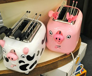 cow, pig, and toaster image