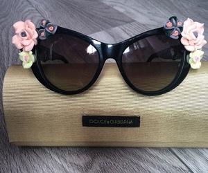 sunglasses, fashion, and flowers image