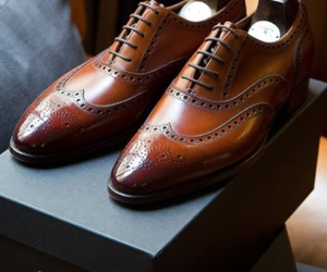 brogues, fashion, and leather image
