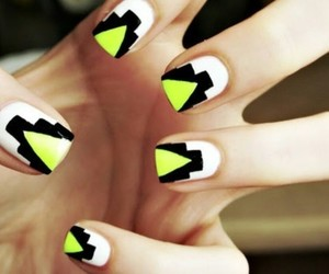nails, black, and yellow image