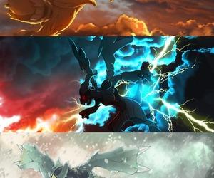 pokemon, zekrom, and reshiram image