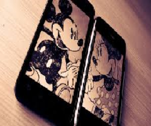 amour, mickey, and minnie image