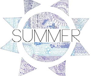 summer, sun, and drawing image