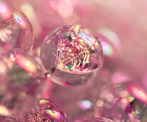 pink, girlygirl, and water bubbles image