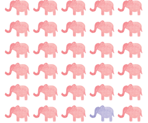elephant, pink, and purple image