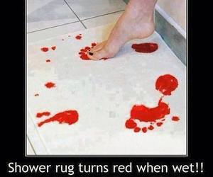 funny, blood, and red image