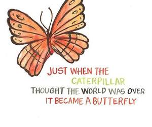 butterfly, caterpillar, and world image