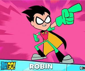 robin, small, and teen titans go image