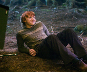 rupert grint, ron weasley, and harry potter image