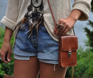 fashion, shorts, and dream catcher image