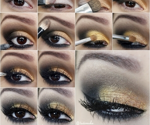makeup, make, and eyes image