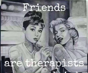 friends, drink, and therapist image