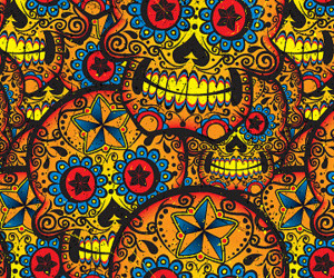 background, mexican skull, and beautiful image