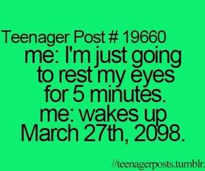teenager post, sleep, and funny image