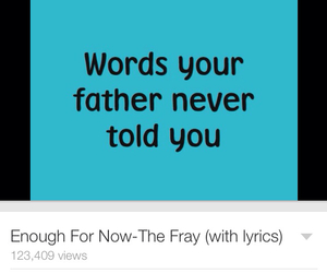 sad, songs, and the fray image