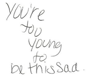 sad, young, and quote image