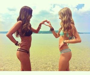 bikini, heart, and summer image