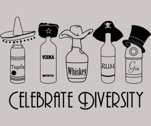 vodka, tequila, and rum image