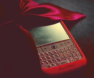 blackberry, red, and phone image
