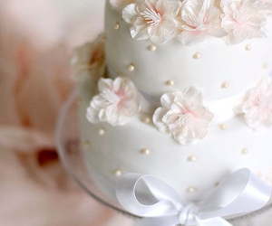 cake, flowers, and sweet image